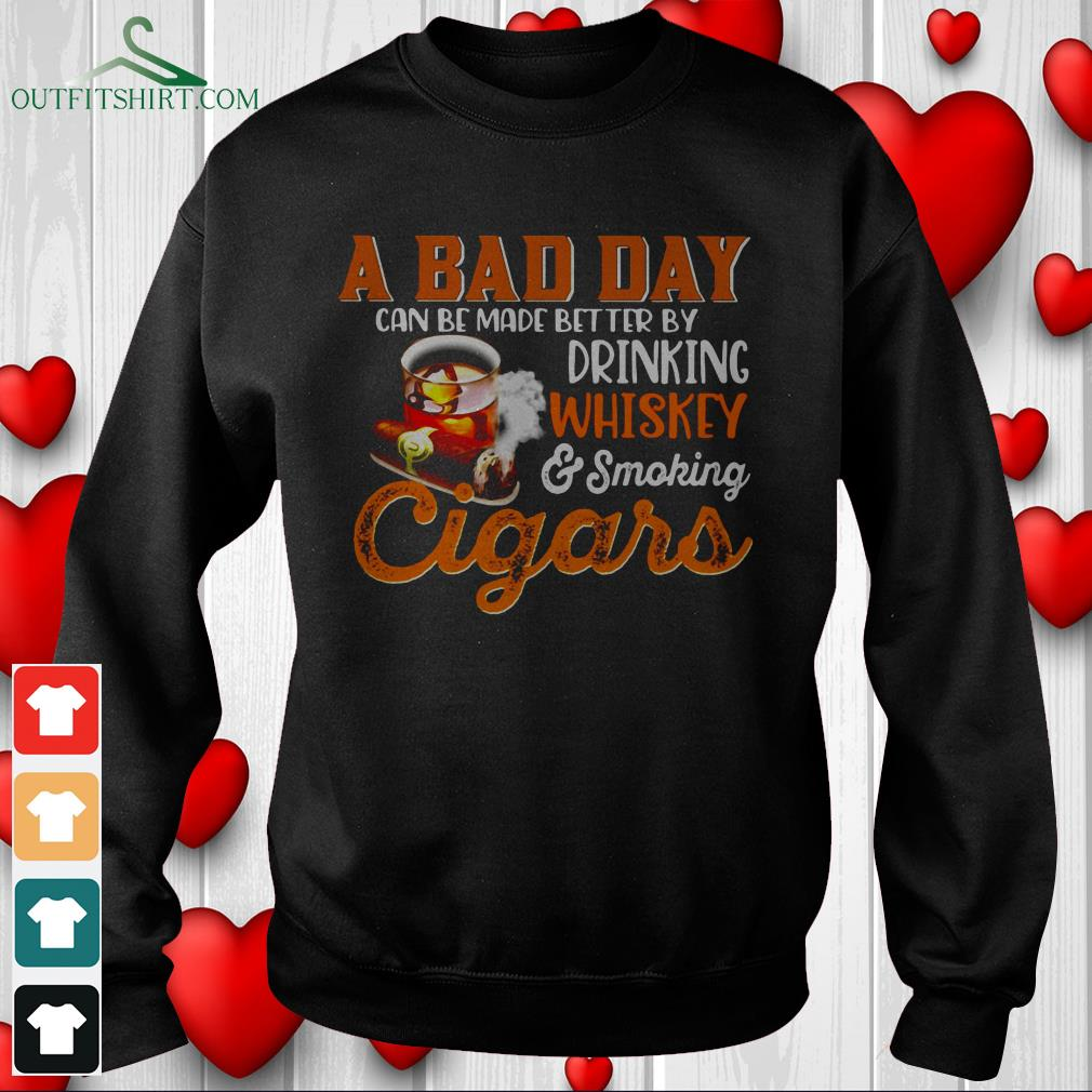 a bad day whiskey cigars hoodie