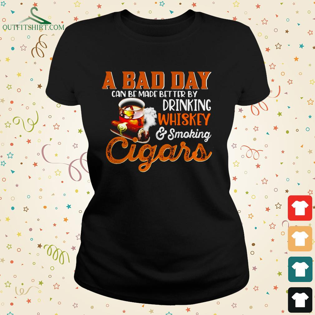 a bad day whiskey cigars ladies tee