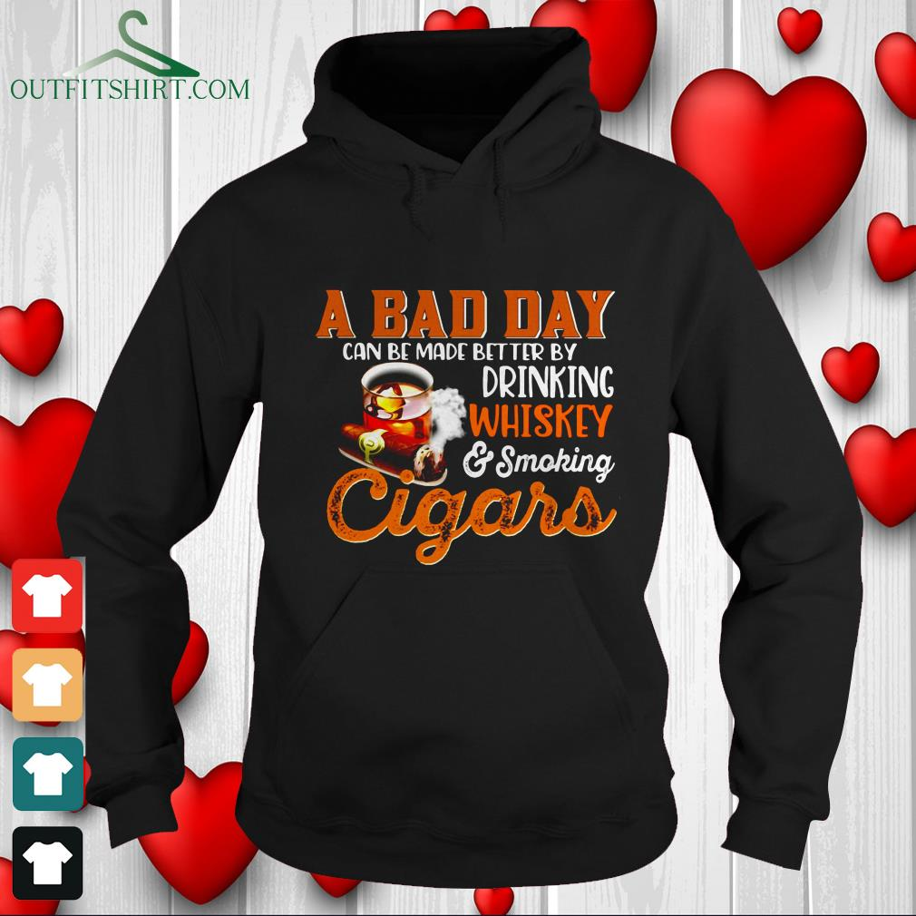 a bad day whiskey cigars sweater