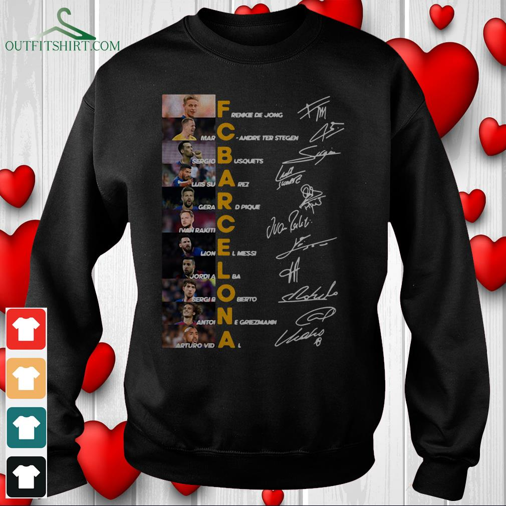 f c barcelona team signature legends thank you for the memories hoodie