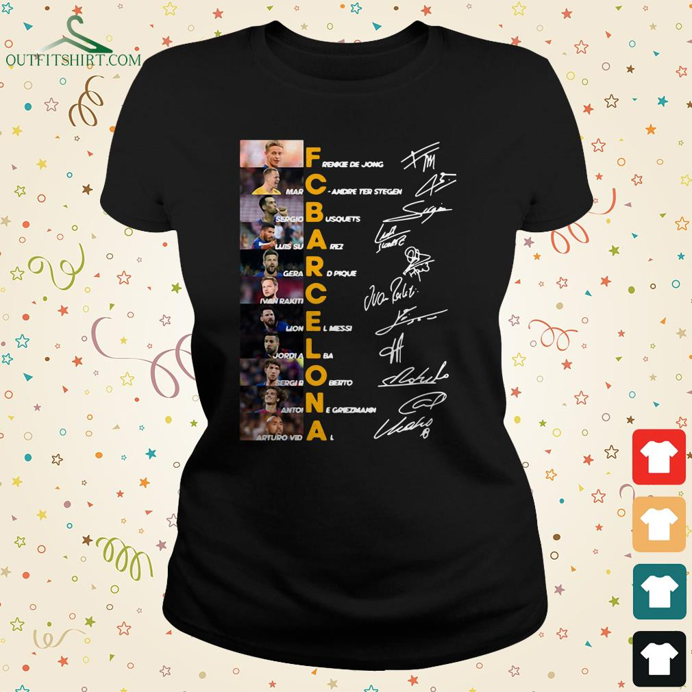 f c barcelona team signature legends thank you for the memories ladies tee