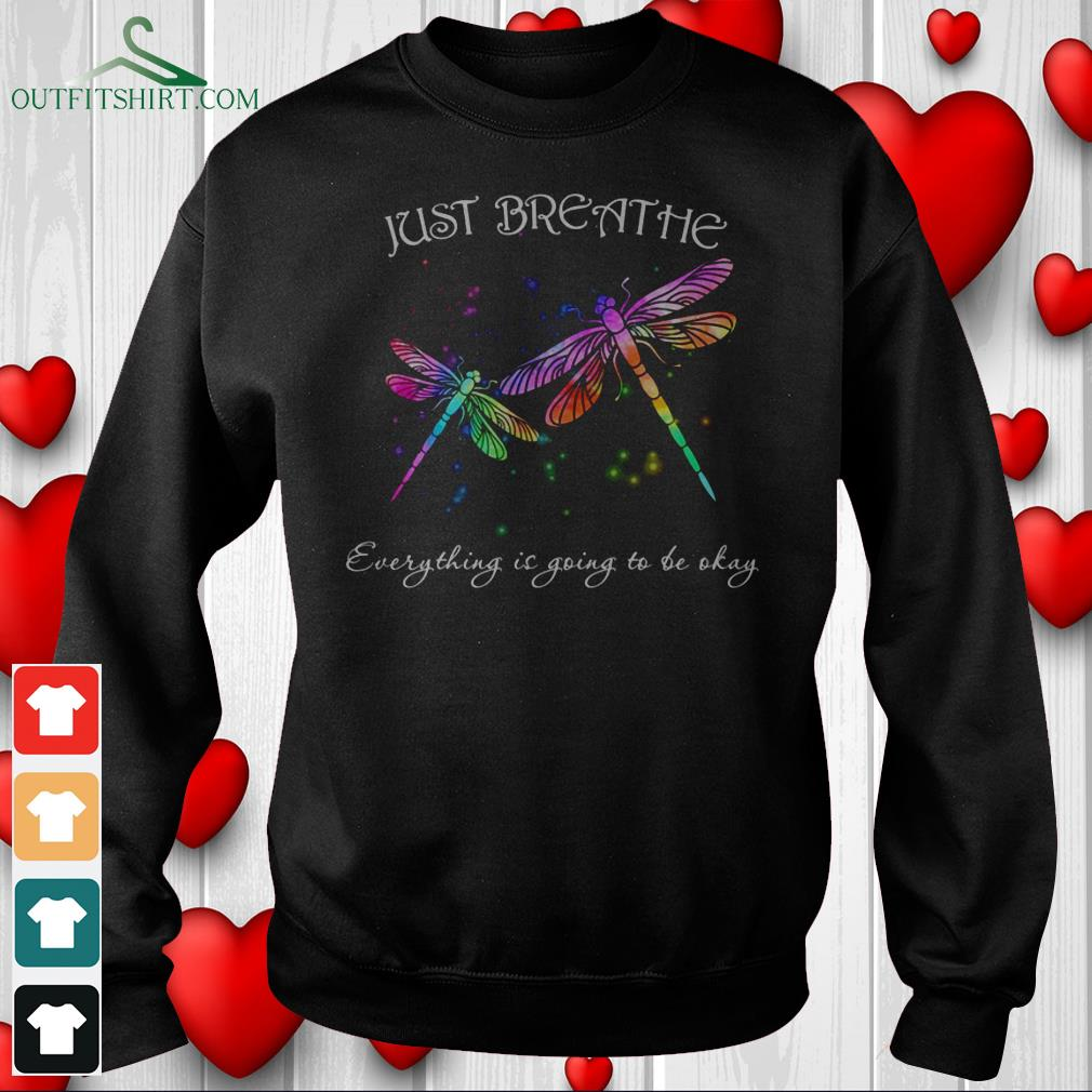 just breathe everything is going to be okay hoodie