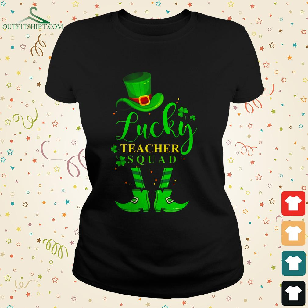 lucky teacher with pretty eyes and thick thighs ladies tee