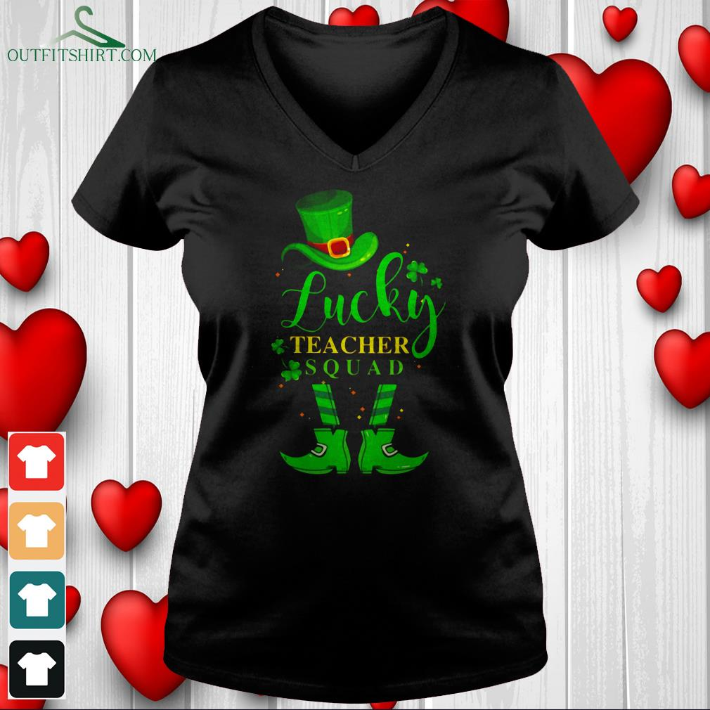 lucky teacher with pretty eyes and thick thighs v neck t shirt