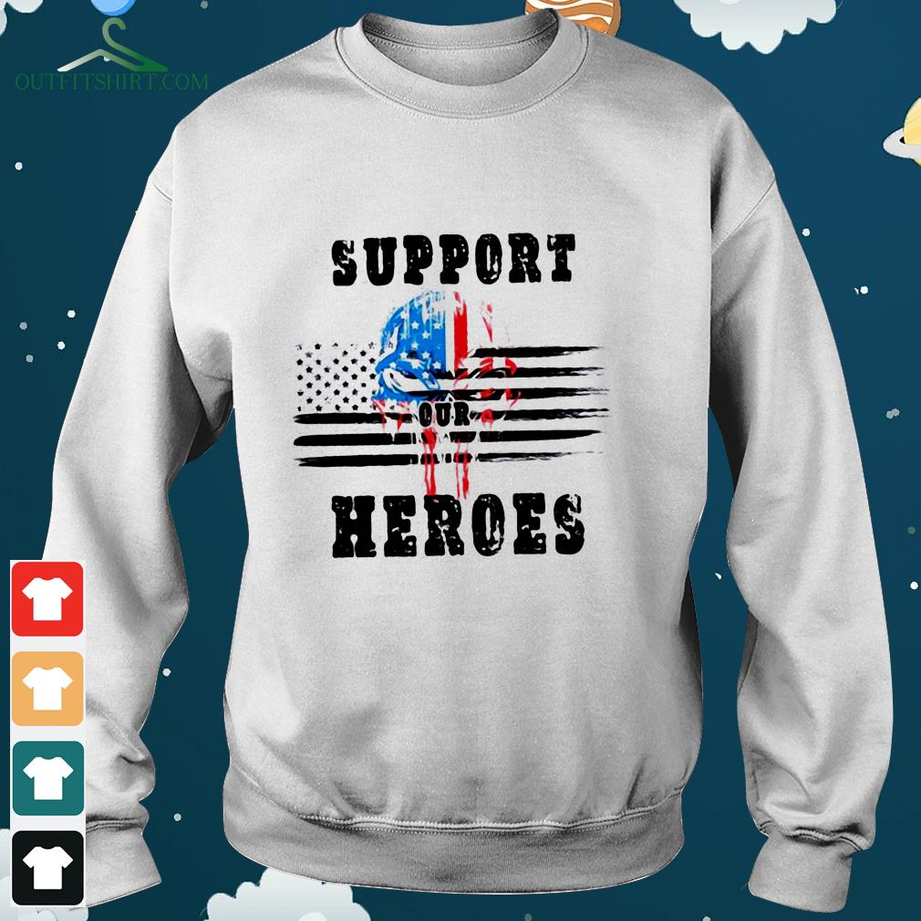 support out heroes hoodie