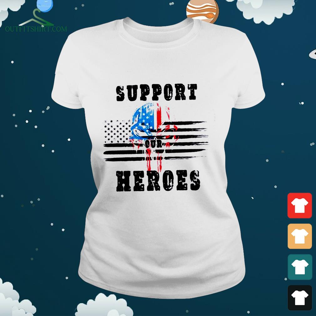 support out heroes ladies tee