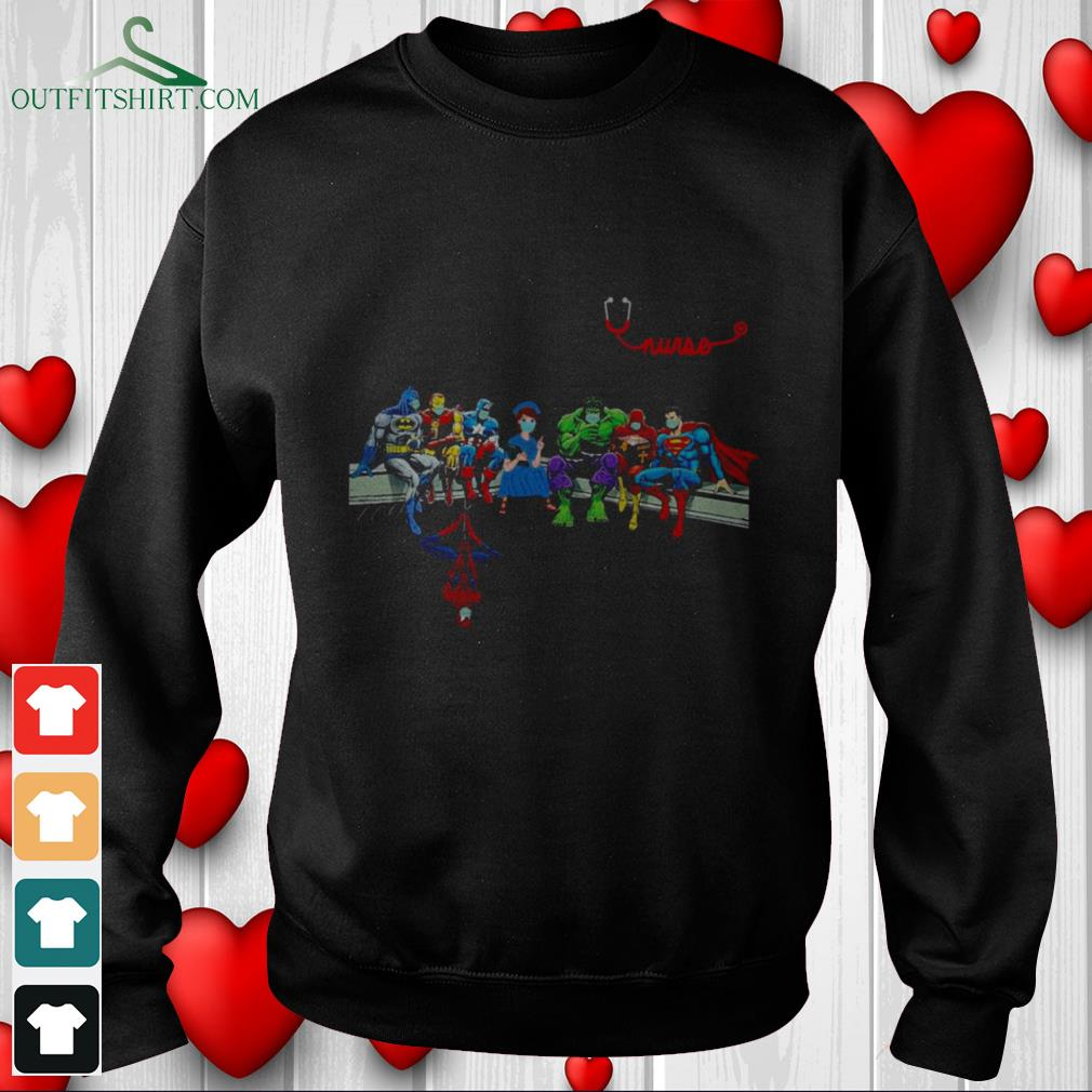 nurse with superheroes and thats how i saved the world Sweater