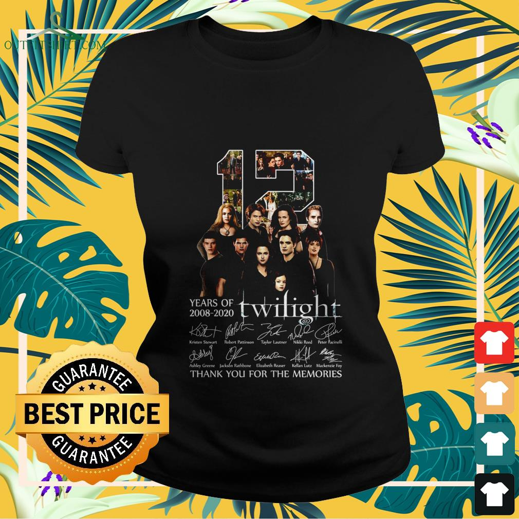 12 years of 2008 2020 twilight thank you for the memories Ladies tee
