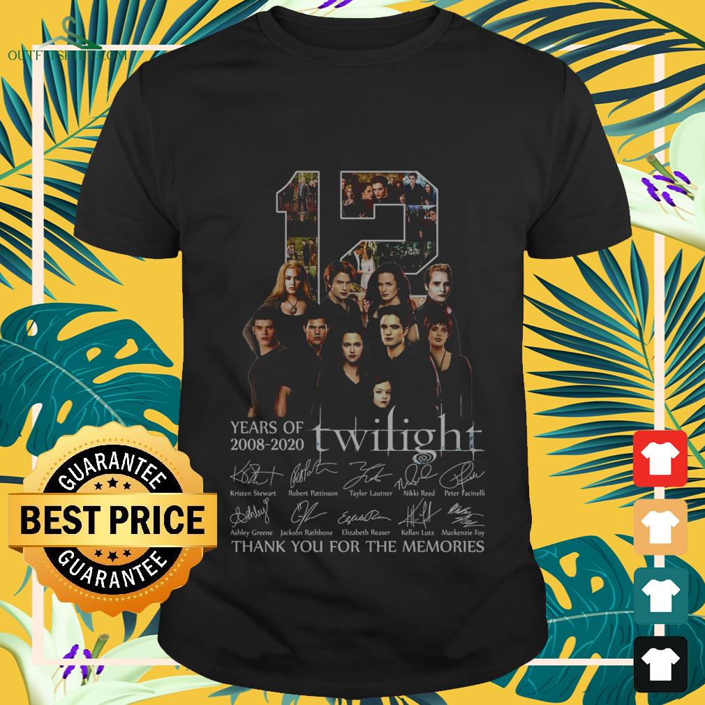 12 years of 2008 2020 twilight thank you for the memories T shirt