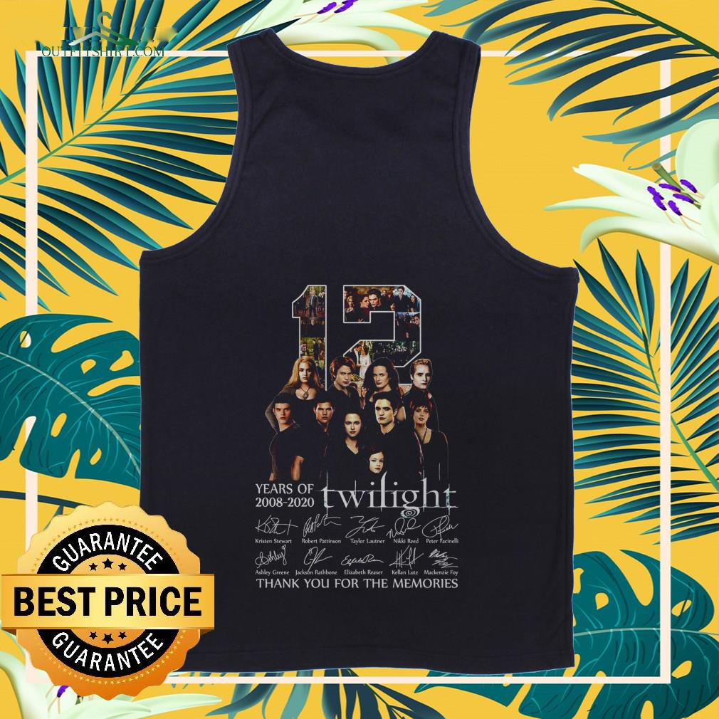 12 years of 2008 2020 twilight thank you for the memories Tank top