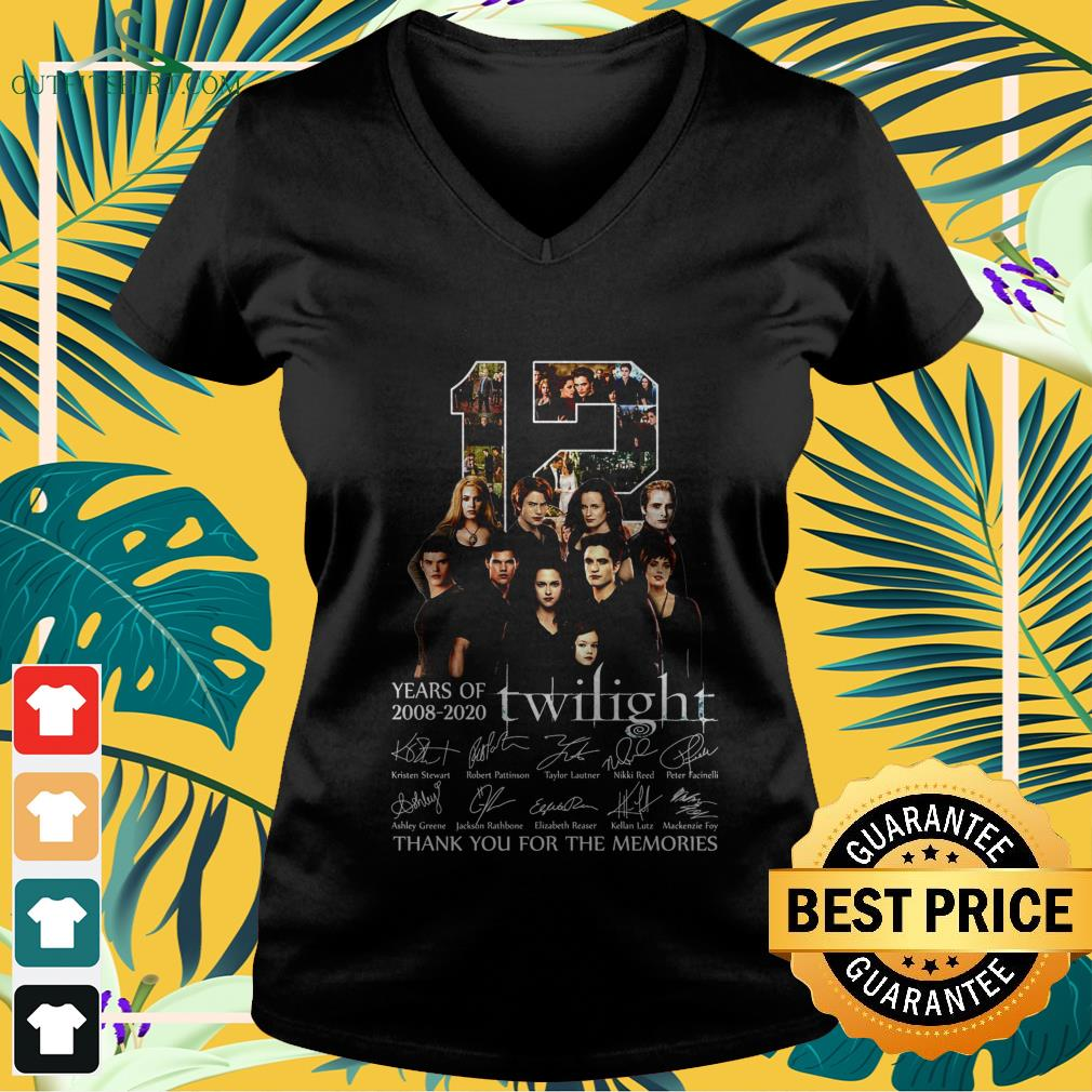 12 years of 2008 2020 twilight thank you for the memories V neck t shirt