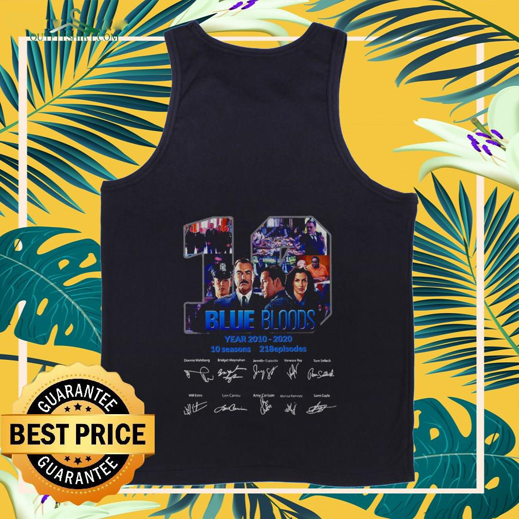 19 blue bloods year 2010 2020 signatures Tank top