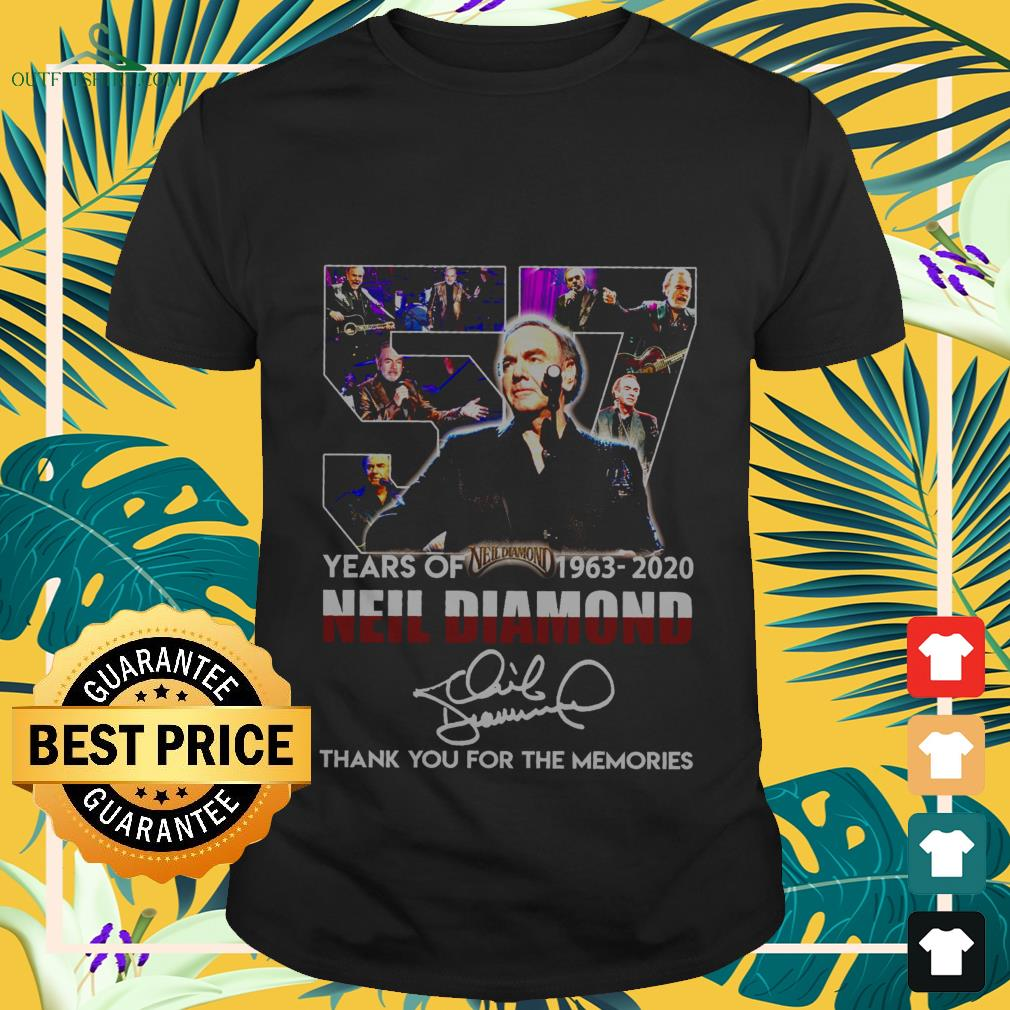 57 years of 1963 2020 neil diamond thank you for the memories T shirt