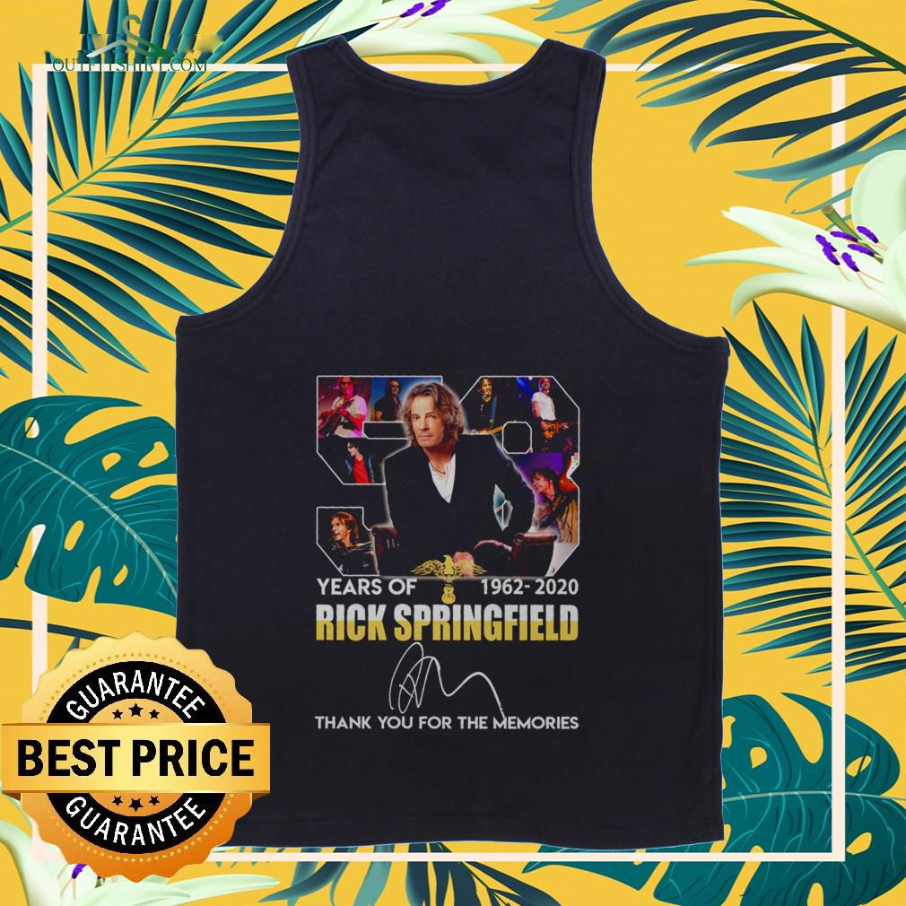 58 years of 1962 2020 rick springfield thank you for the memories Tank top