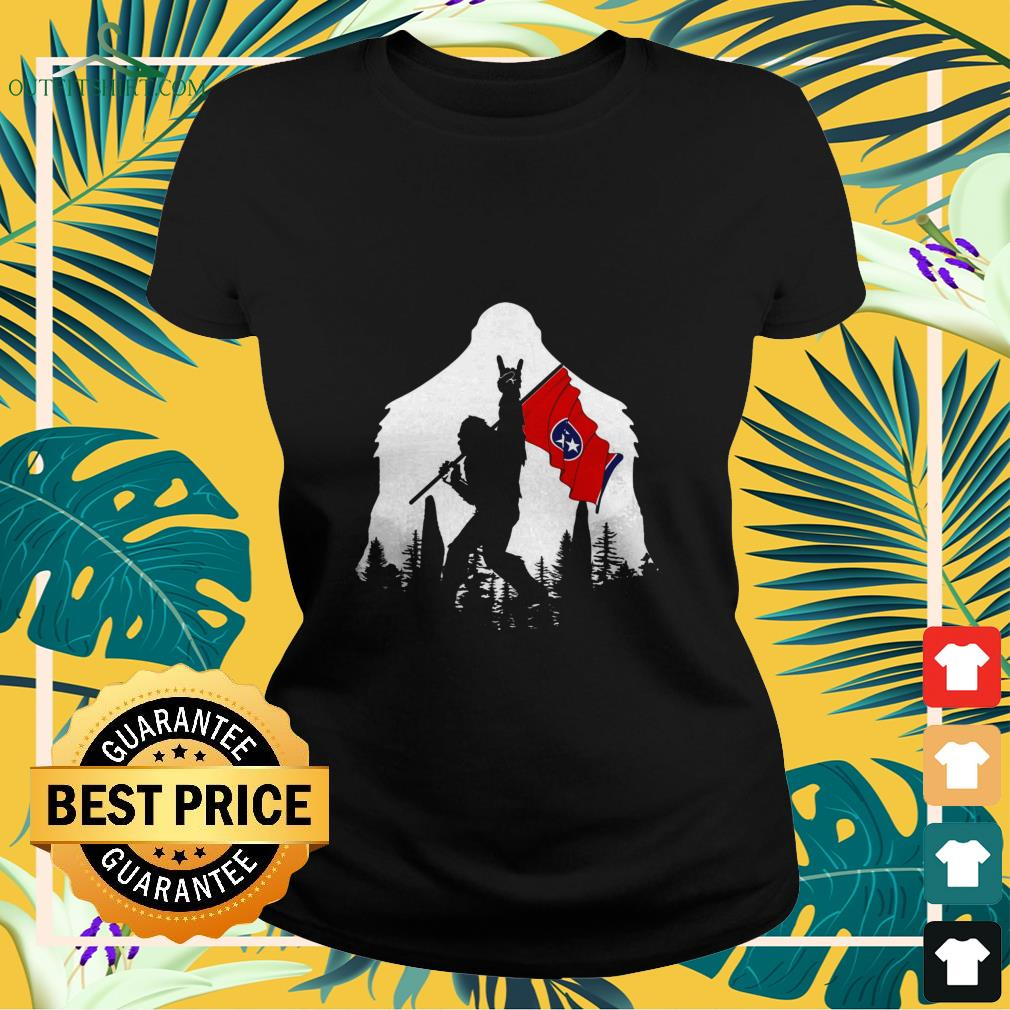 bigfoot rock and roll tennessee in the forest Ladies tee