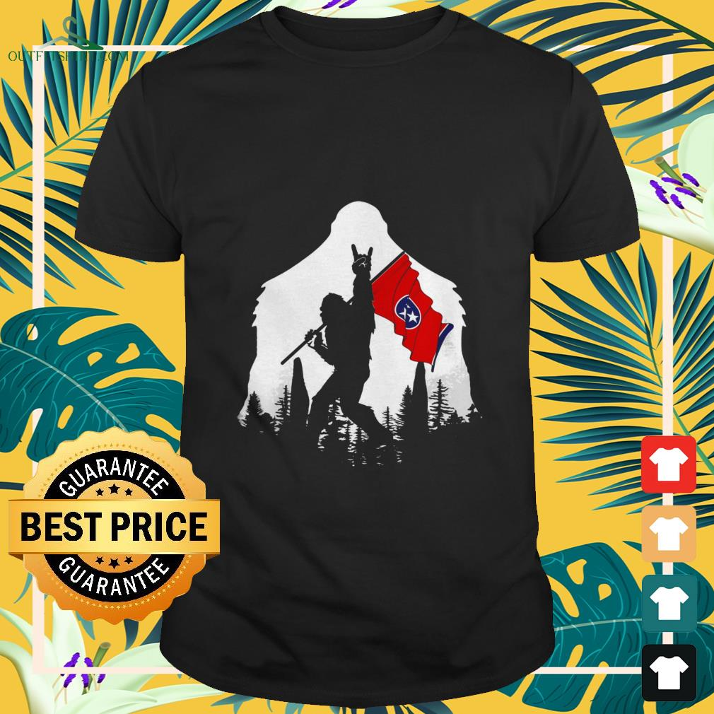bigfoot rock and roll tennessee in the forest T shirt