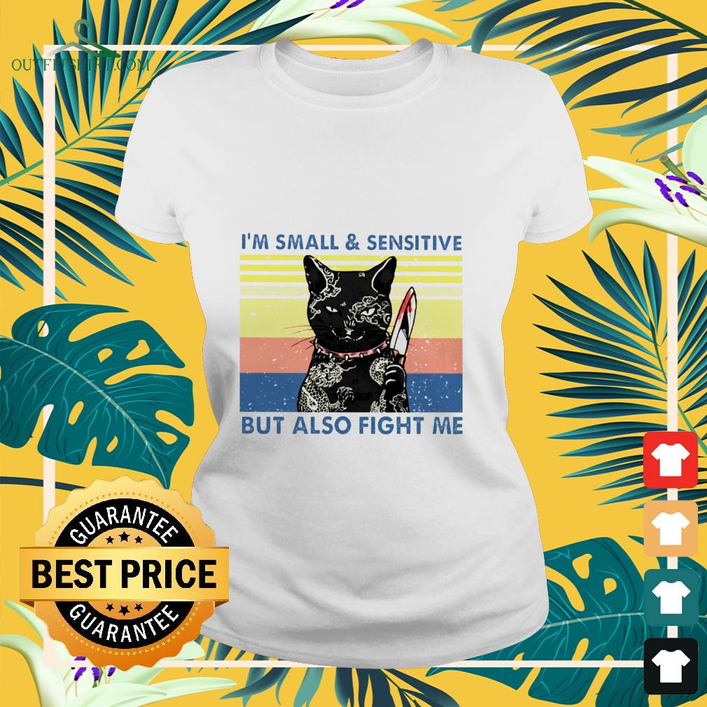 black cat yakuza im small and sensitive but also fight me Ladies tee