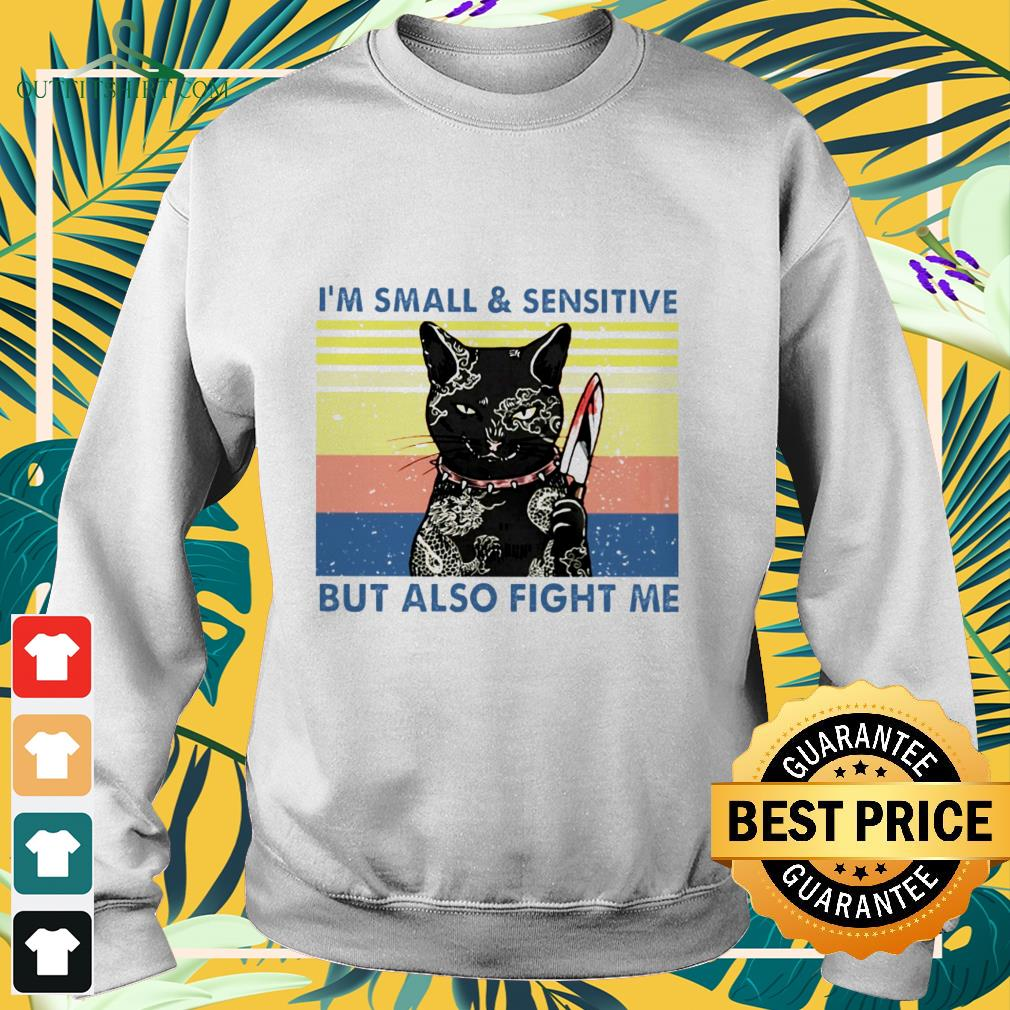 black cat yakuza im small and sensitive but also fight me Sweater