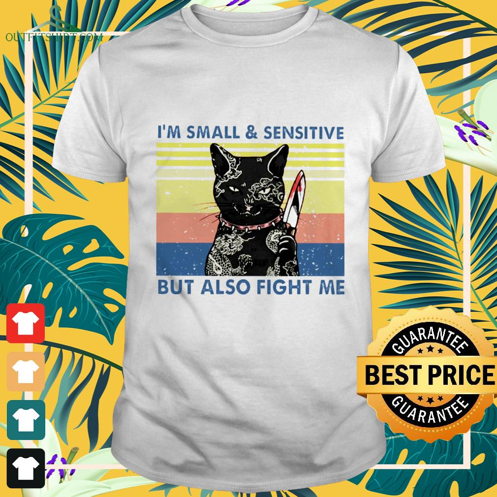 black cat yakuza im small and sensitive but also fight me T shirt