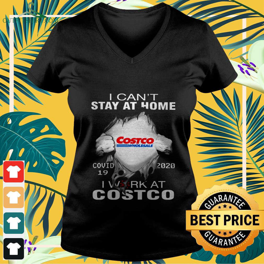 blood inside me costco wholesale covid 19 i cant stay at home V neck t shirt