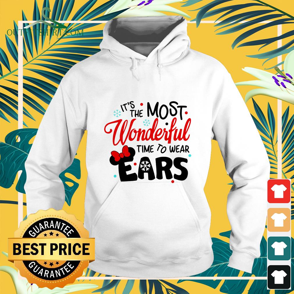 disney minnie mouse its the most wonderful time to wear ears hoodie