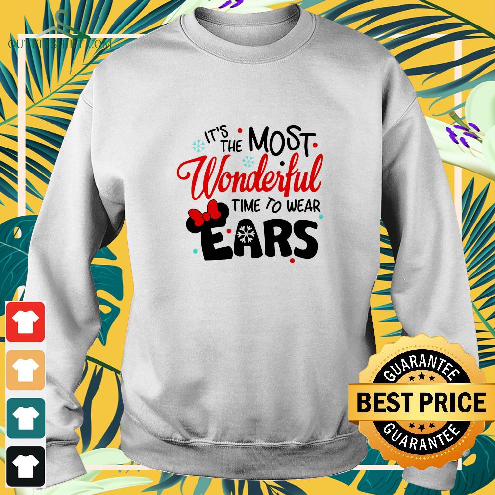 disney minnie mouse its the most wonderful time to wear ears sweater