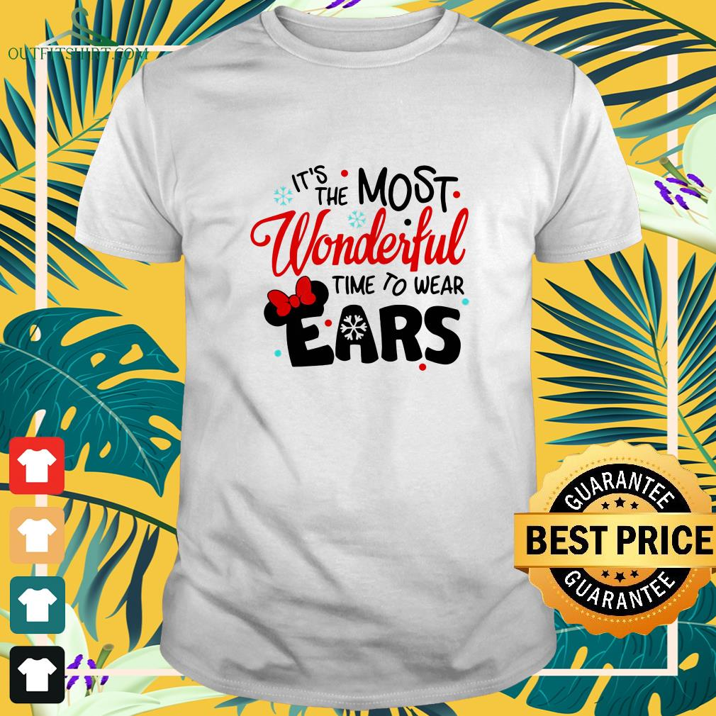 disney minnie mouse its the most wonderful time to wear ears t shirt