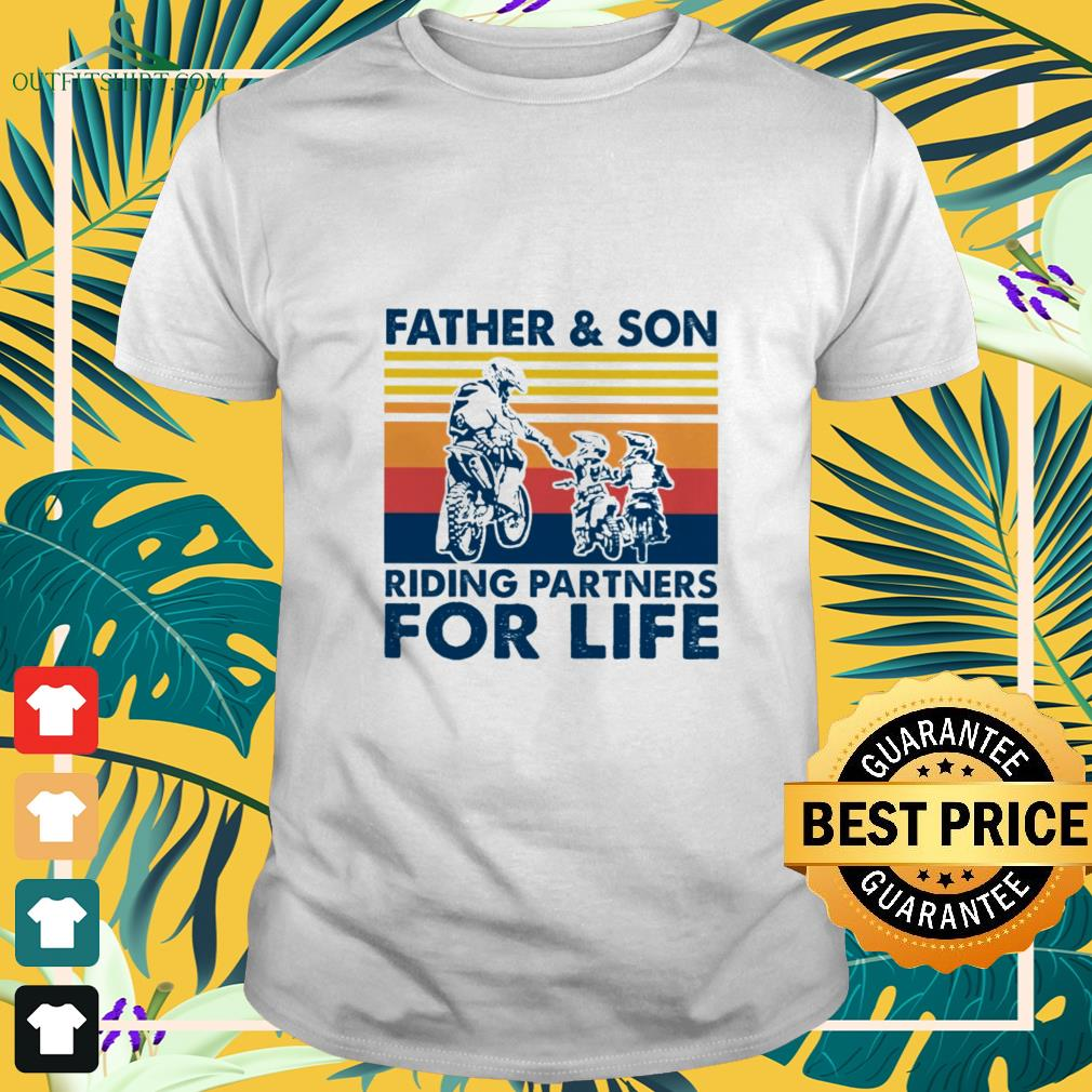 father and son riding partners for life t shirt