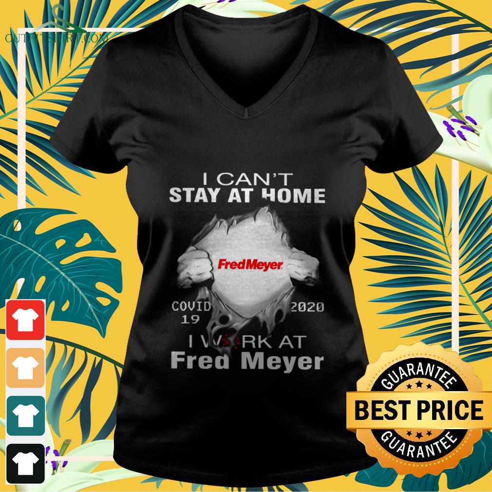 fred mayer covid 19 2020 i cant stay at home V neck t shirt