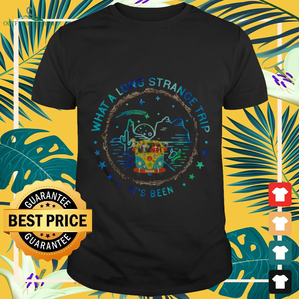 girl and hippie car what a long strange trip its been T shirt