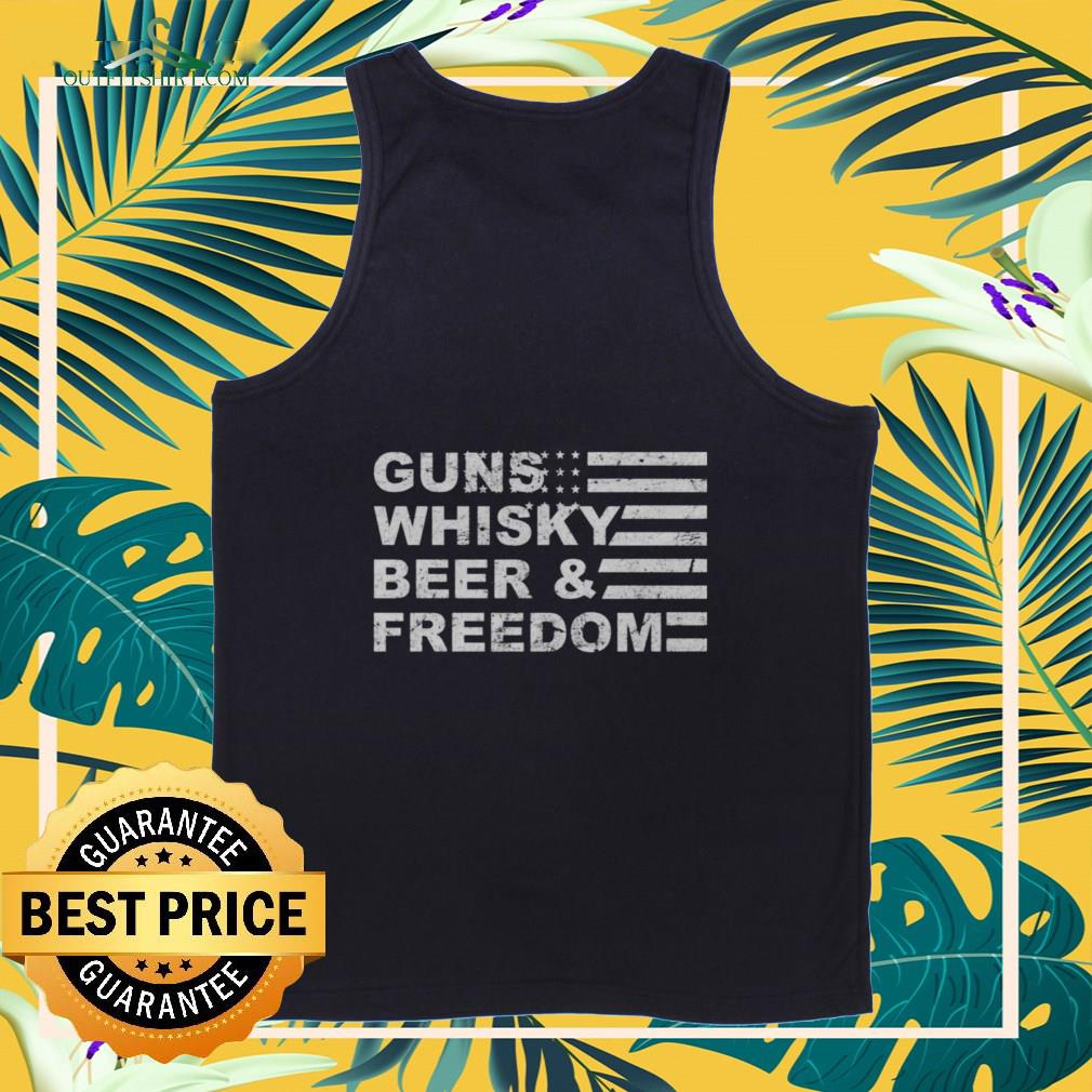 guns whisky beer and freedom Tank top