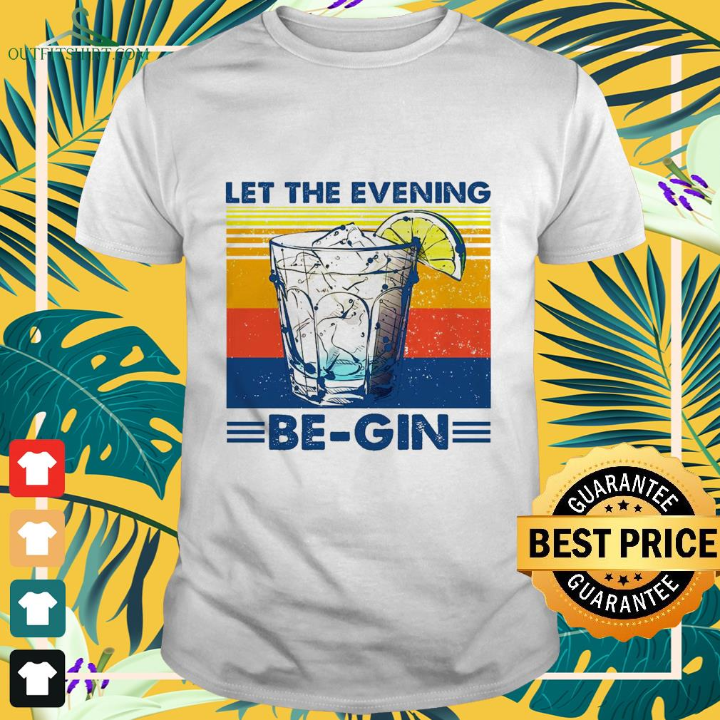 let the evening be gin vintage T shirt