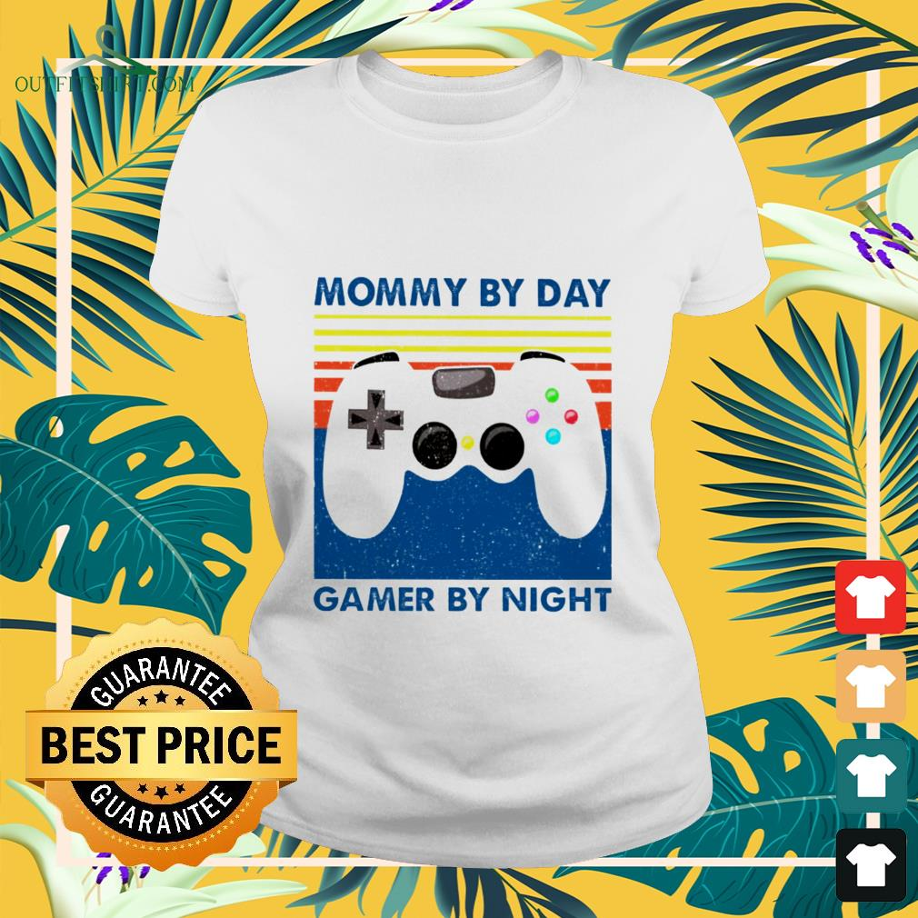 mommy by day gamer by night vintage ladies tee