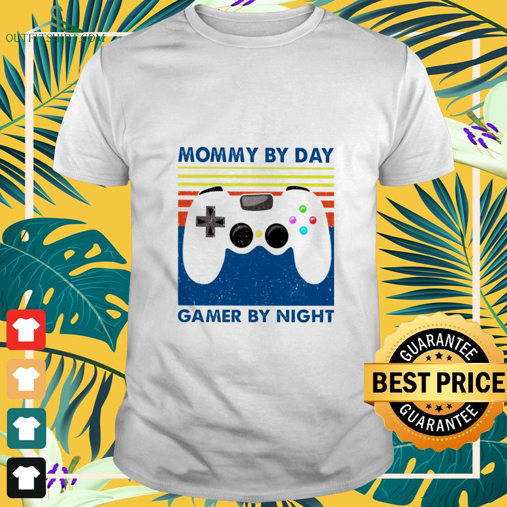 mommy by day gamer by night vintage t shirt