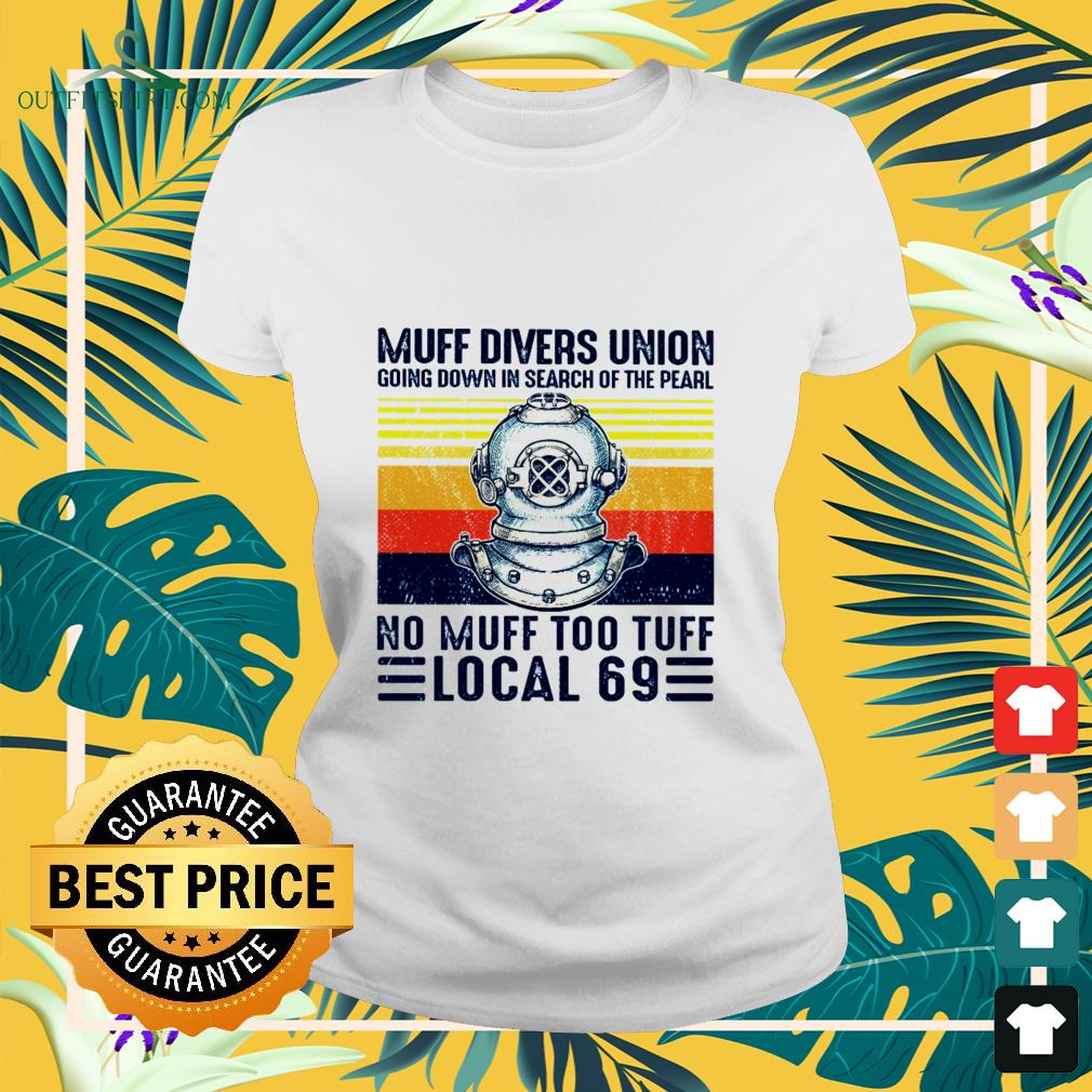 muff divers union going down in search of the pearl Ladies tee