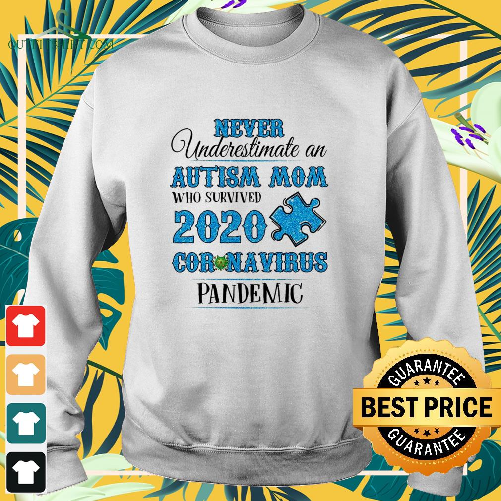 never underestimate an autism mom who survived 2020 coronavirus pandemic sweater