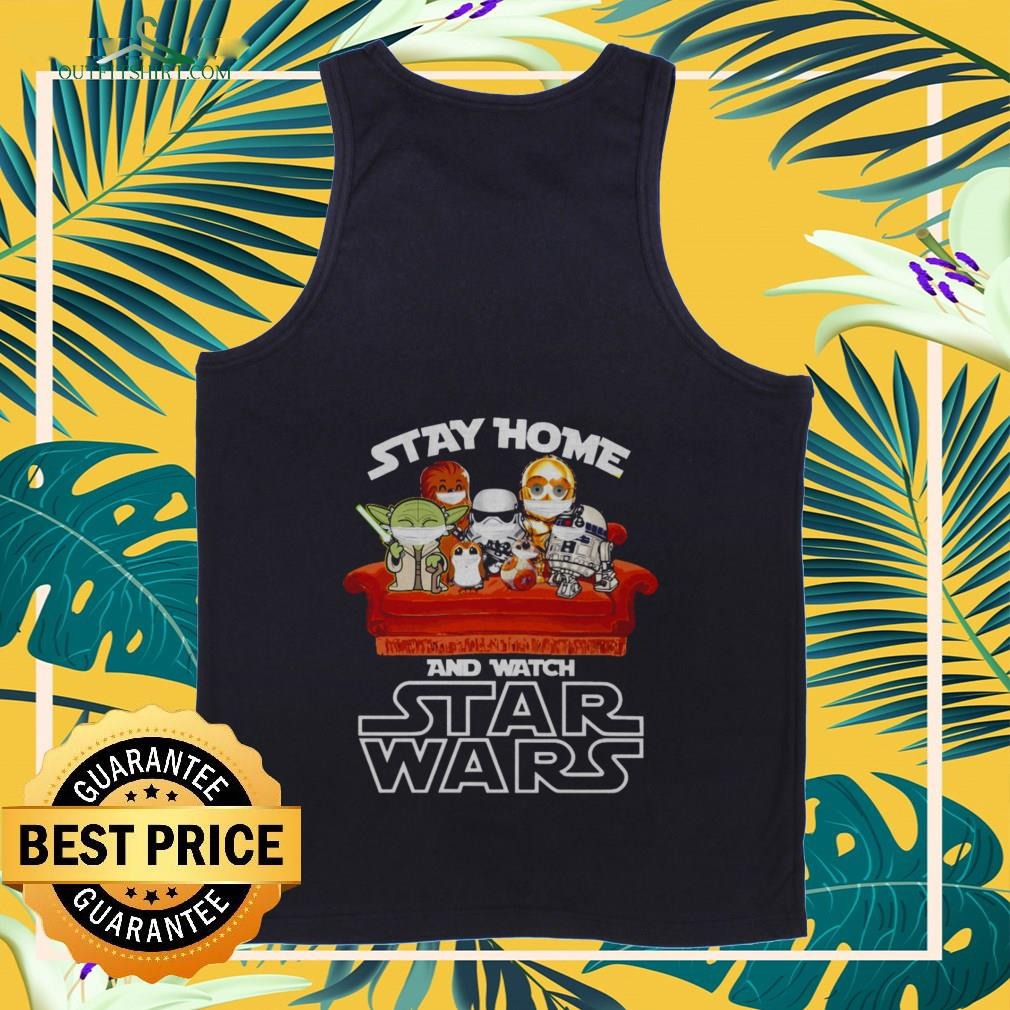 official stay home and watch star wars Tank top