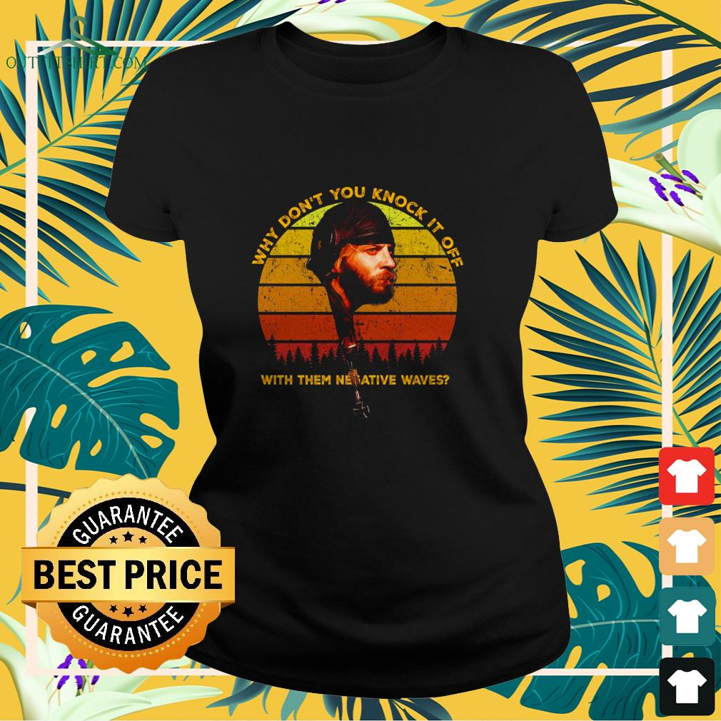 sgt oddball why dont you knock it off with them negative waves sunset ladies tee