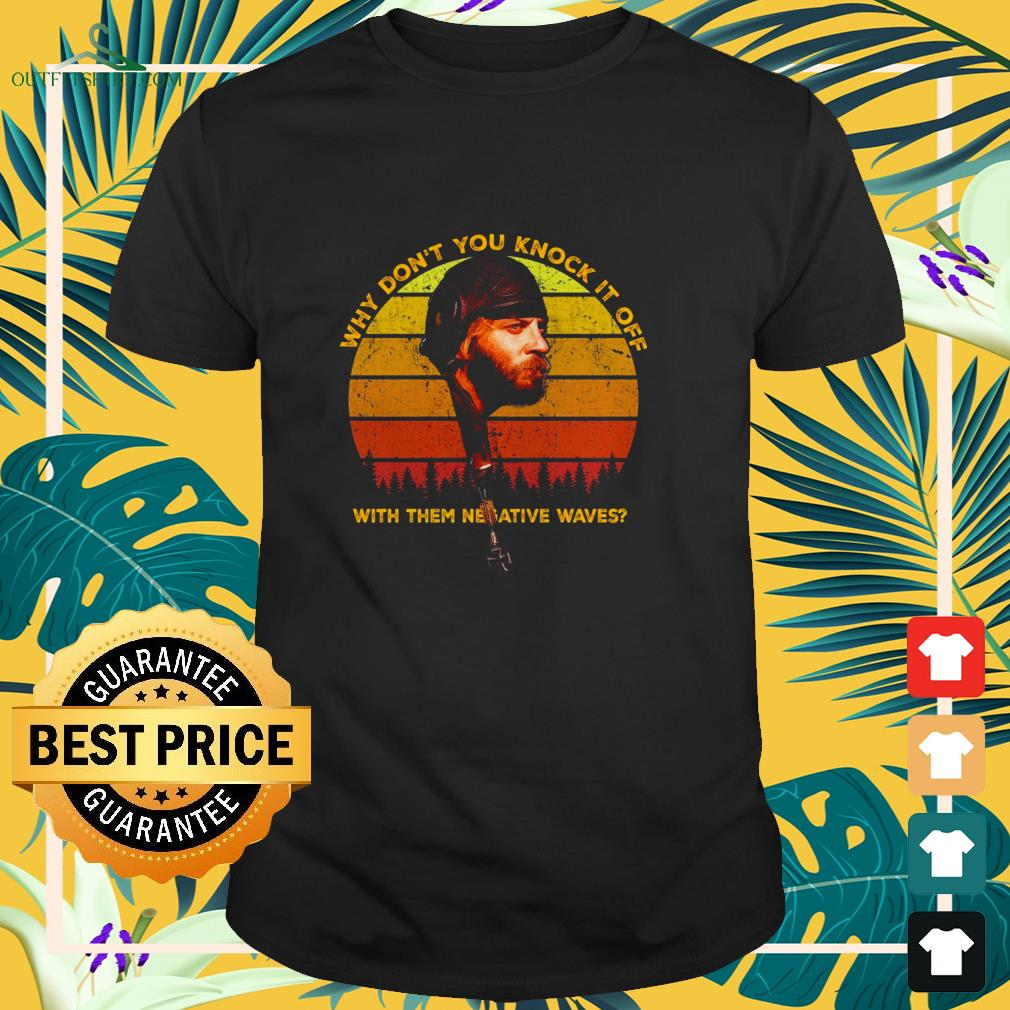 sgt oddball why dont you knock it off with them negative waves sunset t shirt