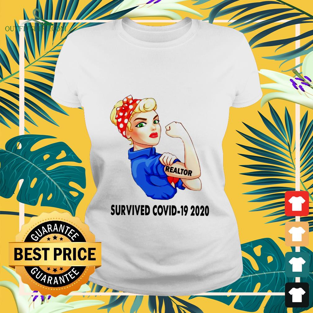 strong girl tattoos realtor survived covid 19 2020 ladies tee