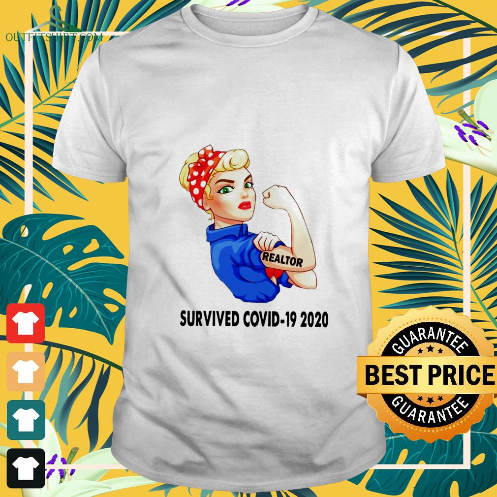 strong girl tattoos realtor survived covid 19 2020 t shirt