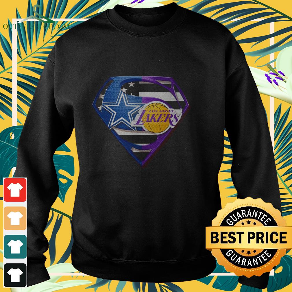 superman dallas cowboys and los angeles lakers sweater