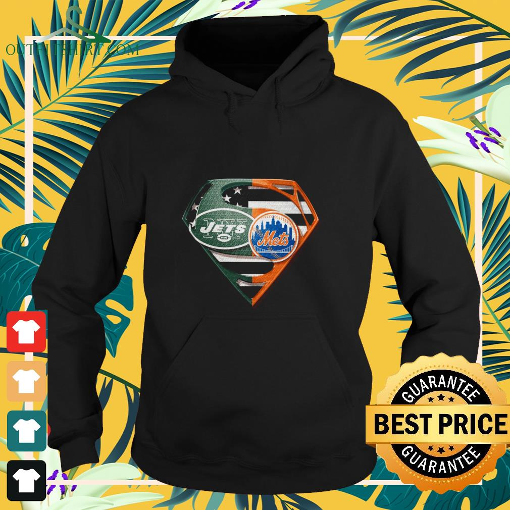 superman new york jets and new york mets hoodie