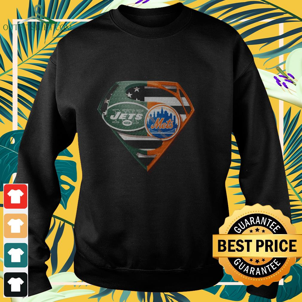 superman new york jets and new york mets sweater