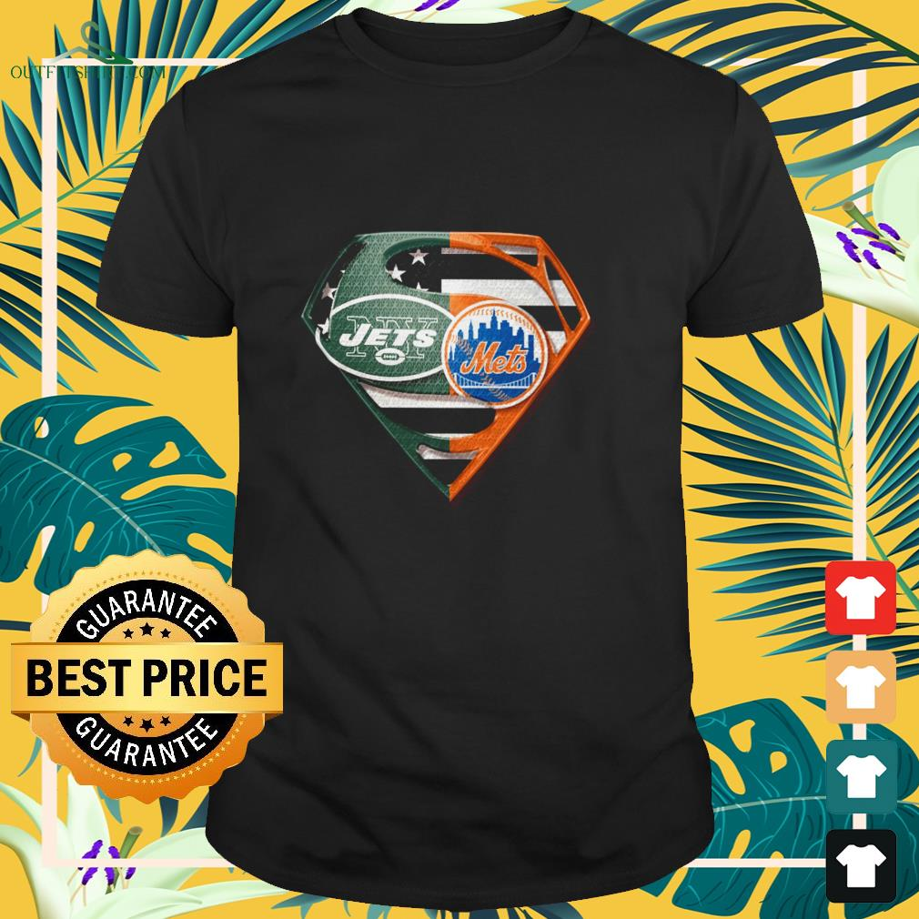 superman new york jets and new york mets t shirt