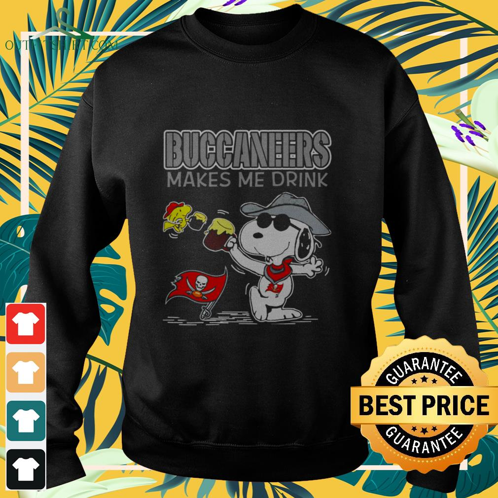 tampa bay buccaneers makes me drink snoopy Sweater