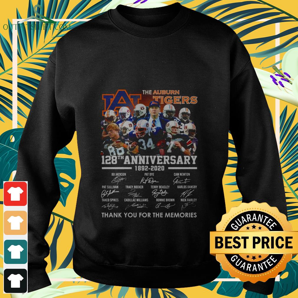 the auburn tigers 128th anniversary 1982 2020 thank you for the memories Sweater