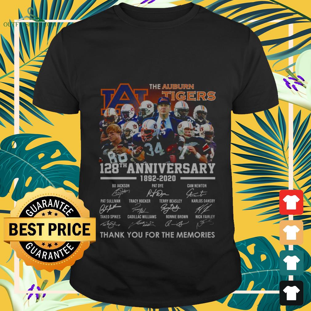 the auburn tigers 128th anniversary 1982 2020 thank you for the memories T shirt