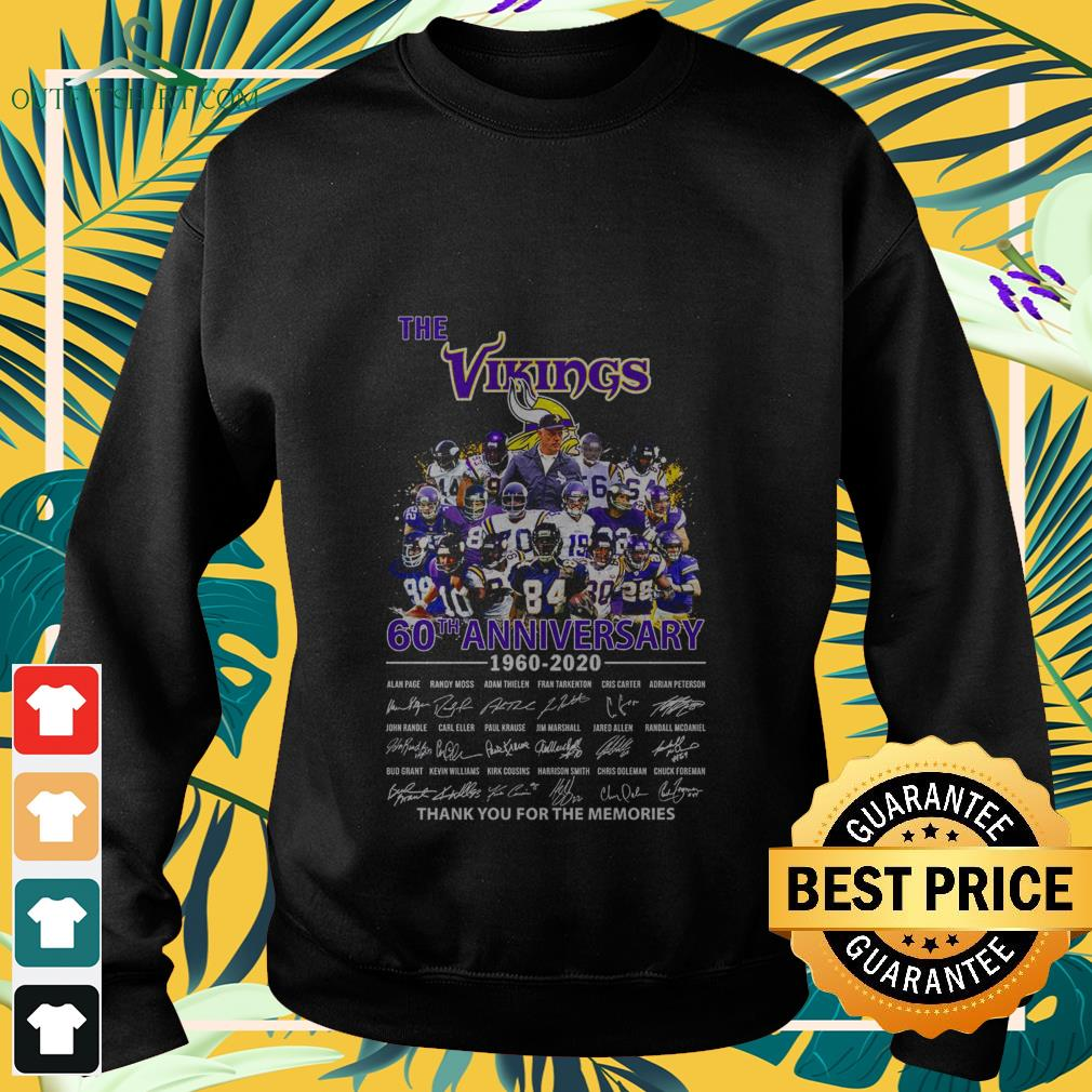 the minnesota vikings 60th anniversary 1960 2020 thank you for the memories Sweater