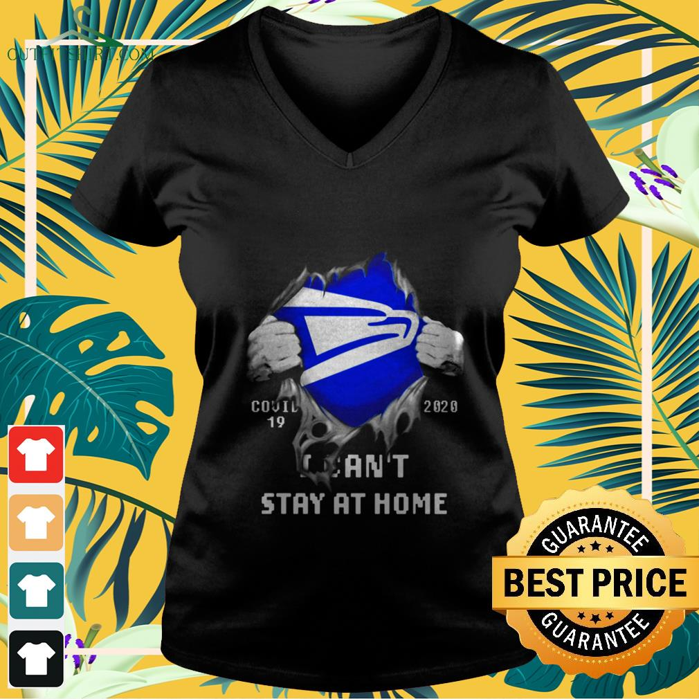 united states postal i cant stay at home covid 19 2020 V neck t shirt